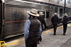 Amish män Fotografering för Bildbyråer