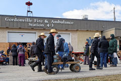 Amish Mud Sale at Fire Station Royalty Free Stock Photos