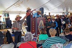 Amish offre à la vente aux enchères du comté de Lancaster Image libre de droits