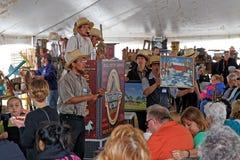 Amish offre à la vente aux enchères du comté de Lancaster Photos stock