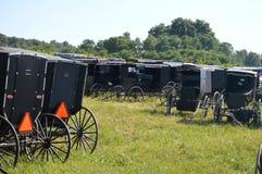 Amish Parking Lot Royalty Free Stock Photos