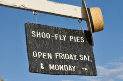 Amish pie sign and hat in rural Pennsylvania royalty free stock image