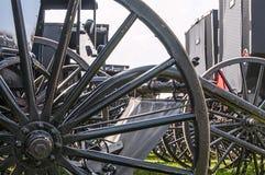 Amish powozik, spoked koła obraz royalty free
