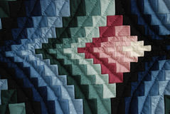 Amish quilt blocks and rectangles Stock Images
