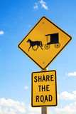 Amish road sign Royalty Free Stock Images