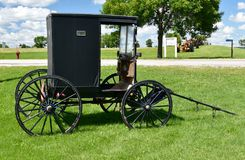 Amish Road Wagon. This is a Summer picture of a Amish Horse Drawn Buggy Wagon Carriage located in Cashton, Wisconsin.  This picture was taken on August 8, 2016 Royalty Free Stock Photos