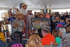 Amish si offre volontariamente all'asta della contea di Lancaster fotografia stock libera da diritti