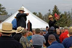 Amish si offre volontariamente all'asta della contea di Lancaster fotografie stock libere da diritti