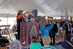 Amish si offre volontariamente all'asta della contea di Lancaster immagine stock
