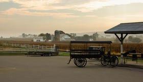 Amish stad på Lancaster, PA Royaltyfria Bilder