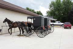 Amish transportation. The amish transportation at the parking lot Royalty Free Stock Image