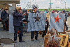 Amish Volunteers Help at the Annual Spring Auction Royalty Free Stock Photo