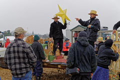 Amish Volunteers Sell Crafts and Decorations Stock Photography
