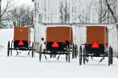 Amish Winter Stock Photography