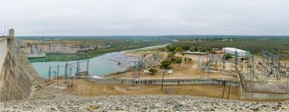 Amistad水坝,墨西哥- 2017年12月17日 免版税库存图片
