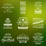 Amistad Citas de la tipografía Imagen de archivo