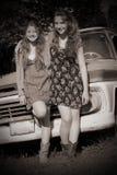 Amistad en sepia Foto de archivo libre de regalías