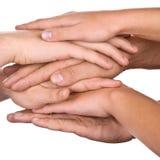 Amistad y trabajo en equipo aislados Imagen de archivo libre de regalías