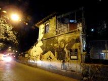 Amitabh Bachan街道画在Bandra 免版税库存图片