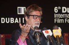 Amitabh Bachchan dans DIFF à Dubaï Image libre de droits