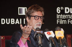 Amitabh Bachchan in DIFF in Dubai Royalty Free Stock Image