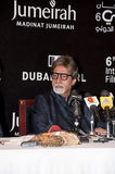 Amitabh Bachchan em DIFF que responde à imprensa imagem de stock royalty free