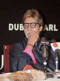 Amitabh Bachchan thinking during DIFF. Indian Film Icon Amitabh Bachchan during 6th Dubai International Film Festival held in Dubai from 9th Dec to 15th Dec. He Stock Images