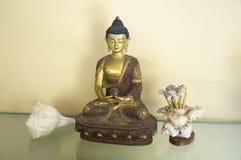 Amitabha Buddha nueve Foto de archivo libre de regalías