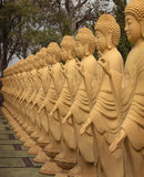 Amitabha Buddha statues in the Buddhist Temple, Brazil Stock Images