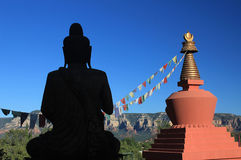 Amitabha Stupa, Sedona, AZ royalty free stock photo