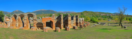 Amiternum amphitheatre. Amiternum, the old roman amphitheatre in Italy Royalty Free Stock Photo