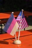 Amitié américaine allemande Photo libre de droits