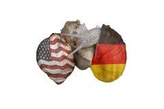 Amitié américaine allemande de concept Images stock