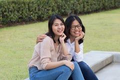 Amitié asiatique de femmes Photos stock
