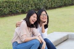 Amitié asiatique de femmes Images libres de droits