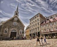 Amitié bénie à vieux Québec Photo libre de droits