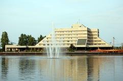 Amitié d'hôtel dans la ville de Vyborg Photos stock