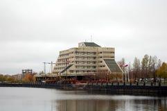 Amitié d'hôtel dans la ville de Vyborg Image libre de droits