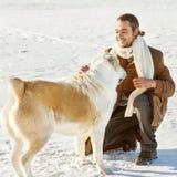 Amitié d'homme et de chien pour toujours Photo libre de droits