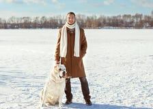 Amitié d'homme et de chien pour toujours Images libres de droits