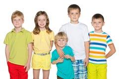Amitié de cinq enfants Photographie stock libre de droits