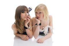 Amitié de femmes d'adolescent Image libre de droits