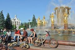 Amitié de fontaine des nations au centre d'exposition de la Tout-Russie à Moscou Photo stock