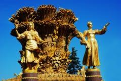Amitié de fontaine des personnes VDNKH Moscou, Russie Photos libres de droits