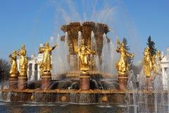 Amitié de fontaine des peuples (Moscou, VVC) Photographie stock libre de droits