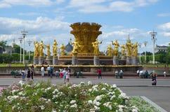 Amitié de ` de fontaine de ` de peuples à l'ENEA à Moscou, Russie Photos stock