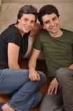 Amitié de soeur et de frère Photo stock