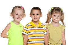 Amitié de trois enfants Images libres de droits