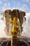 Amitié des détails de fontaine de nations chez VDNKh Photographie stock
