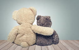 Amitié Deux ours de nounours Photos stock